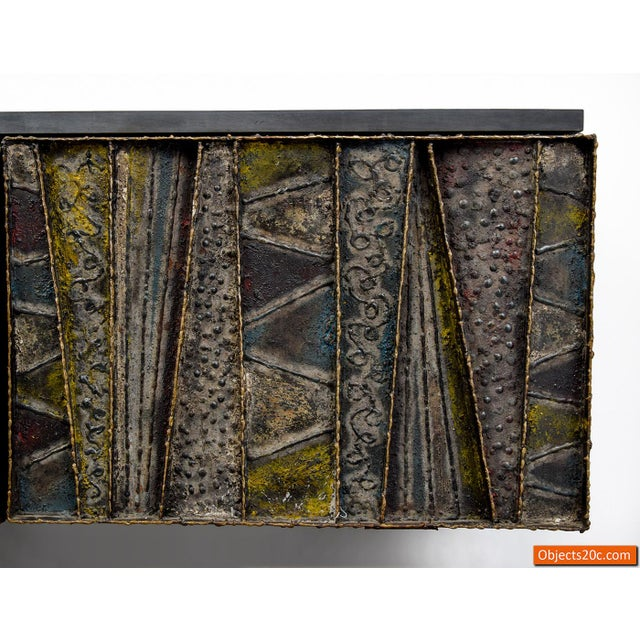 Paul Evans for Directional Deep Relief Wall Cabinet For Sale In West Palm - Image 6 of 12