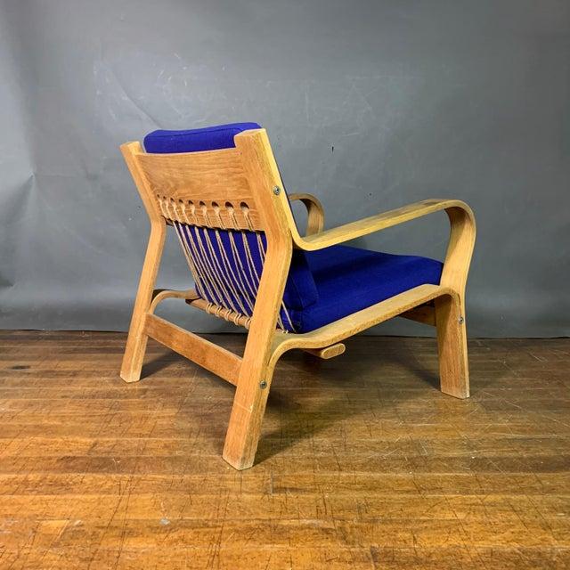 Hans J. Wegner Ge671 Oak & Flag Halyard Lounge Chair, Getama For Sale - Image 13 of 13