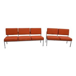 Mid Century Modern Steelcase Sofa Set - 2 Piece Set For Sale