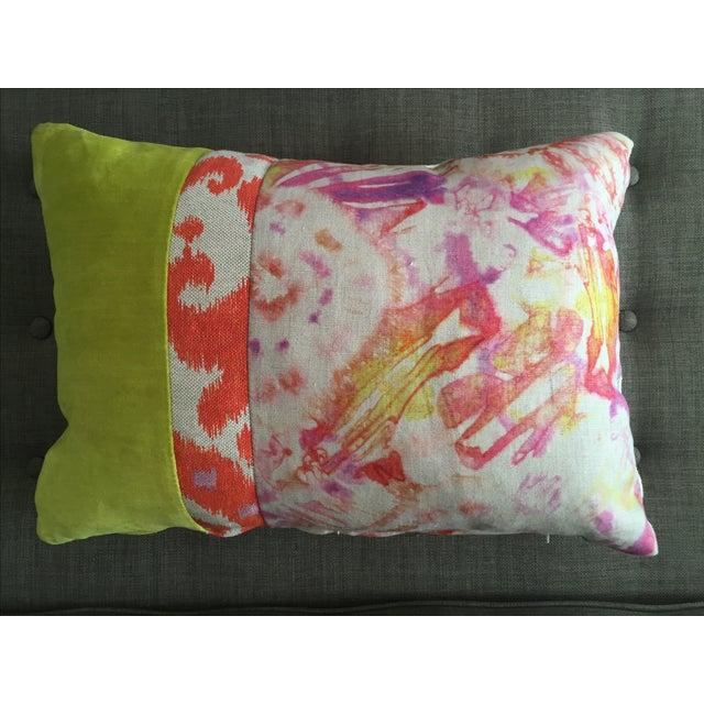 Modern Rectangle Pillow : Kim Salmela Modern Rectangular Colorblock Pillow Chairish