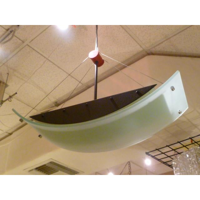 Glass Fine Robert Sonneman Memphis Inspired Suspension Chandelier For Sale - Image 7 of 11