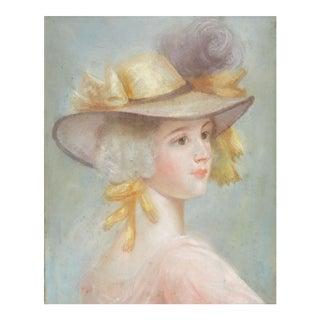 Pastel Portrait Georgian Era Lady For Sale