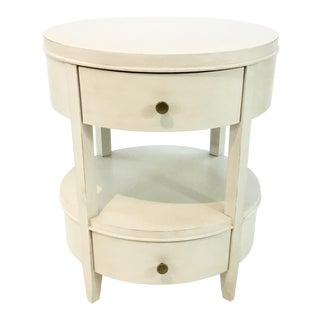 Warm White Drexel Heritage Infinty Nightstand For Sale