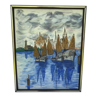 Impressionist Style Sailboat Painting For Sale