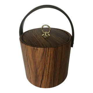 Mid-Century Modern Vinyl Covered Ice Bucket For Sale