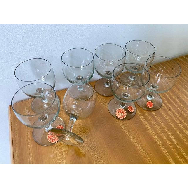 Light Gray Vintage 1950s Holmegaard Denmark Elsinore Smoke Glass Cordials Stemware - Set of 8 For Sale - Image 8 of 10
