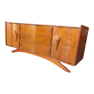 Mid-Century Modern Curved Standard Dresser by Detroit Furniture Co.