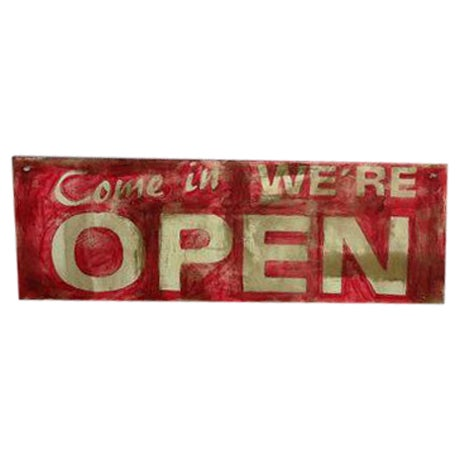 Hand Made Vintage Style Double Sided Wooden Sign - Image 1 of 6