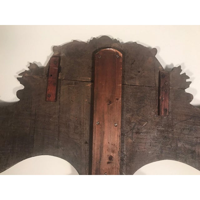 19th Century New England Hand Painted Wooden Headboard For Sale - Image 9 of 12