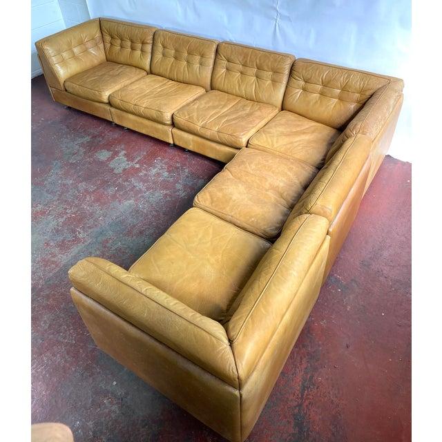 Vatne Mobler Vintage Leather Sectional Sofa For Sale - Image 11 of 11