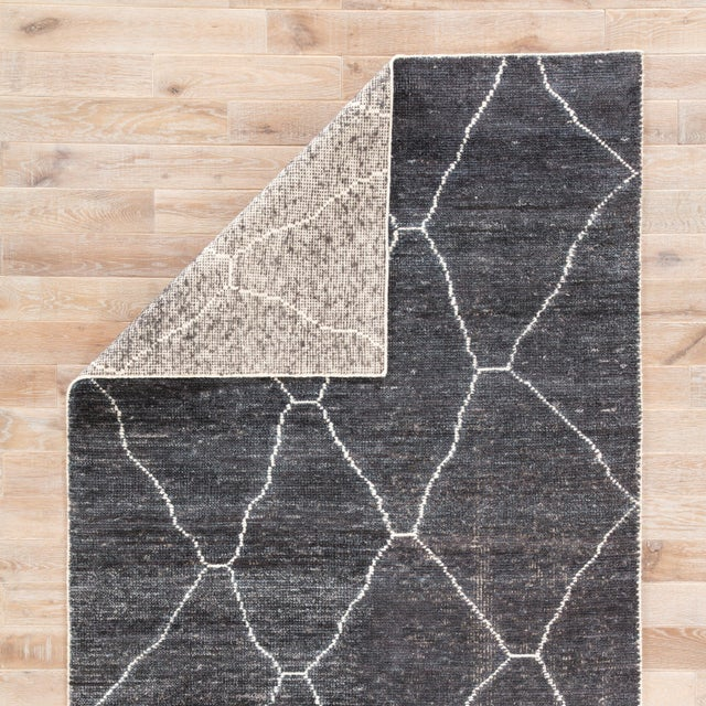 Jaipur Living Carmine Handmade Geometric Dark Gray/ Blue Area Rug - 5′ × 8′ For Sale - Image 4 of 6