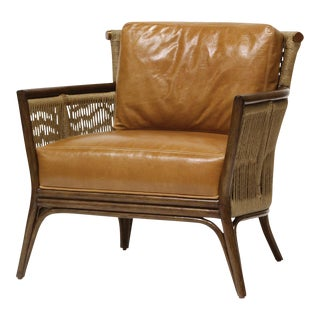 Modern Palecek Bolero Leather Lounge Chair For Sale