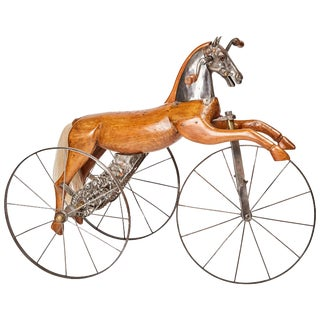 Antique Jean Louis Gourdoux for Jugnet French Velocipede Horse Tricycle