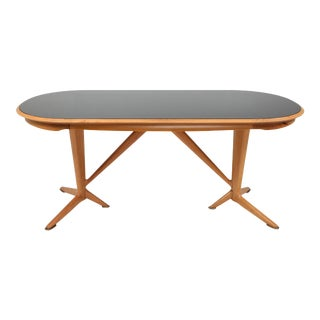 Oak Dining Table in the Style of Gio Ponti - 1970s For Sale