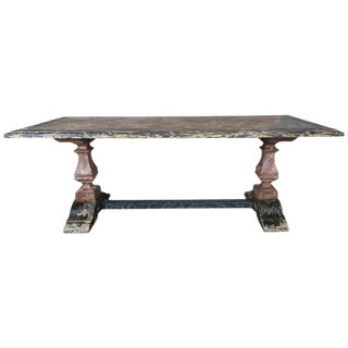 19th C. Italian Painted Trestle Table For Sale