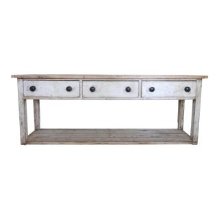 19th Century Country White and Pine Sideboard or Credenza For Sale