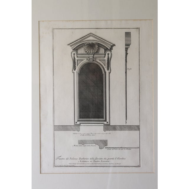 Neoclassical 18th Century Antique Framed Architectural Engraving For Sale - Image 3 of 11