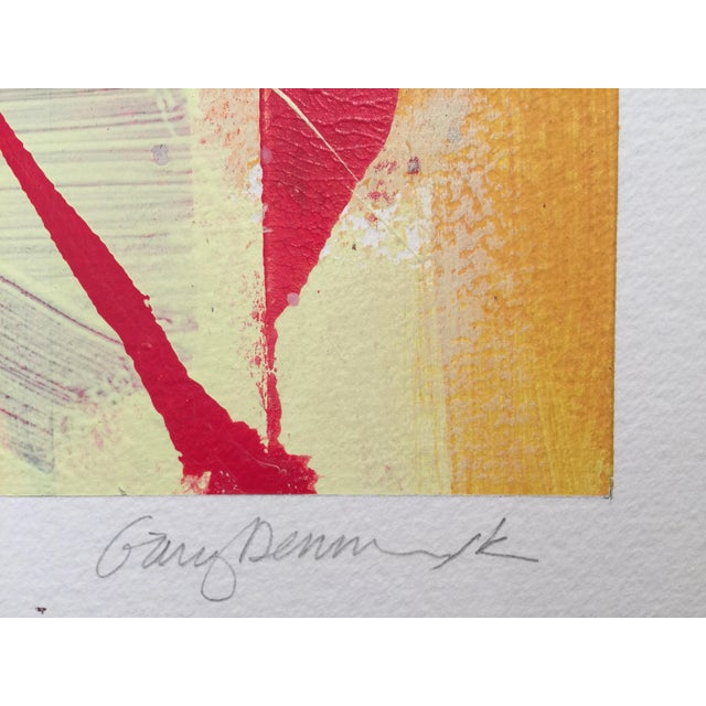 "Gary Denmark Denmark Contemporary Red Abstract ""Flora Fuega 2"" For Sale - Image 4 of 6"