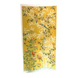 Image of Chinoiserie Yellow Handpainted Wallpaper Panel With Bamboo Motif For Sale