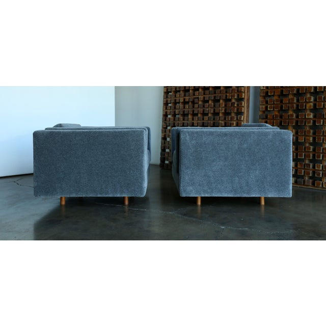 1960s Harvey Probber Grey Mohair Lounge Chairs - a Pair For Sale In Los Angeles - Image 6 of 13