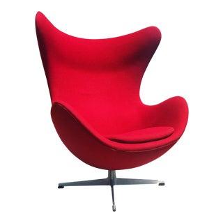 1960s Vintage Arne Jacobsen Egg Chair For Sale