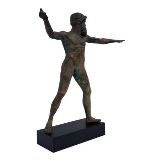 Vintage Nude Man Bronze Sculpture