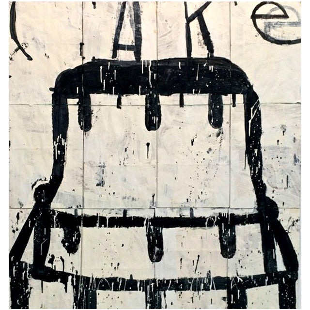 """""""Cake"""" Oil on Paper Bags by Gary Komarin For Sale"""