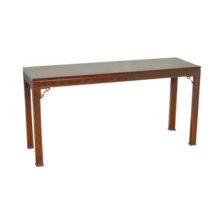 Kindel Mahogany Chippendale Style Console Table For Sale