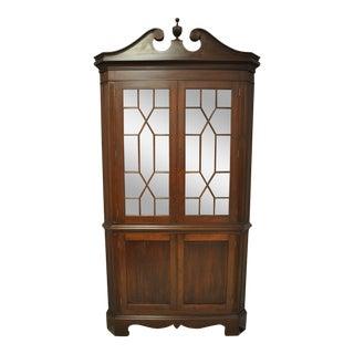 Biggs Mahogany Corner Cupboard