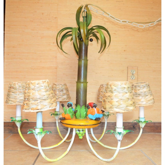 Monkey and palm tree chandelier chandelier designs vintage palm tree monkey chandelier chairish mozeypictures Gallery
