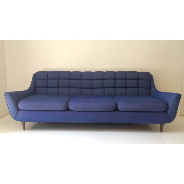 Mid-Century Blue Sofa by Stratford - Image 2 of 6