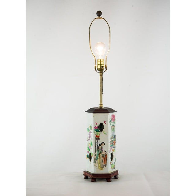 Asian Chinoiserie Ginger Jar Table Lamp For Sale - Image 3 of 13