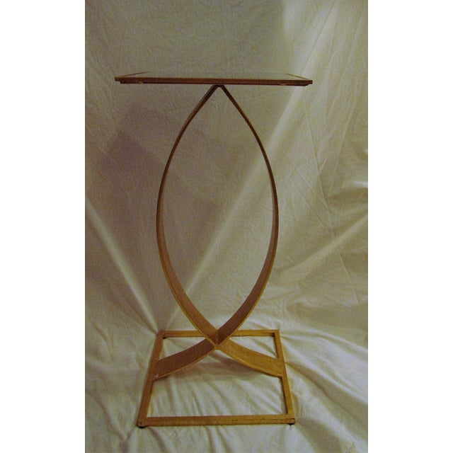 Square Mirror Topped Mid-Century Modern Side Table - Image 2 of 4