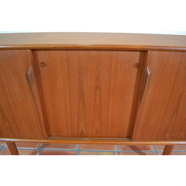 Gunni Omann Mid-Century Danish Teak Credenza For Sale - Image 7 of 10