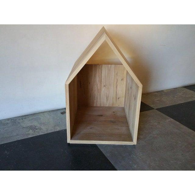 Ozshop Natural or Ebonized Reclaimed French Oak Dog Houses For Sale - Image 4 of 5