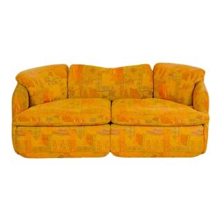 """Alberto Rosselli for Saporiti """"Confidential"""" Two-Seat Sofa with Missoni Upholstery Italy 1970s For Sale"""
