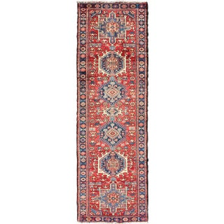 1950s Vintage Persian Karadjeh Runner Rug - 2′7″ × 8′9″ For Sale