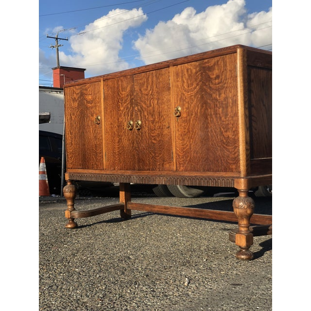 Wood 19th Century English Welsh Oak Sideboard For Sale - Image 7 of 9