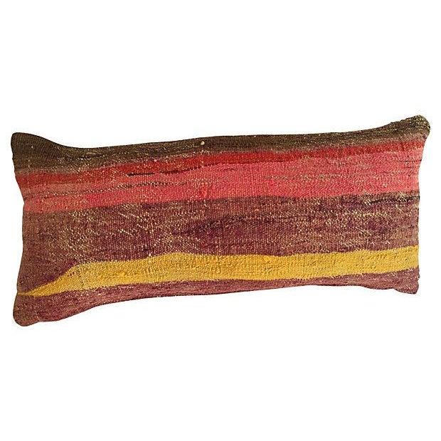 Striped Camel Sack Lumbar Pillows - A Pair - Image 4 of 5
