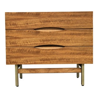 1960s Mid Century Modern American of Martinsville Walnut 3-Drawer Credenza For Sale