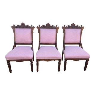 Late 19th Century Victorian Eastlake Chairs- Set of 3 For Sale