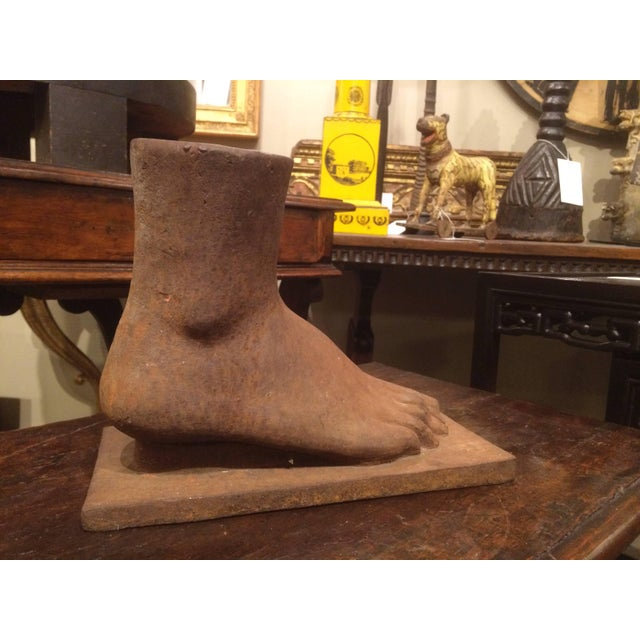 American Folk Art Cast Iron Foot For Sale In New York - Image 6 of 7
