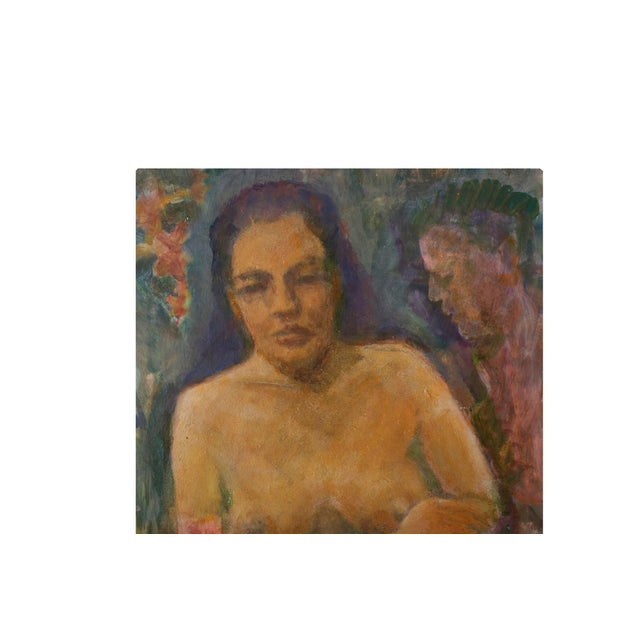 Original Nude of a Woman Portrait Painting - Image 2 of 4
