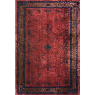 Antique Chinese Art Deco Rug- 11′3″ × 17′2″ For Sale