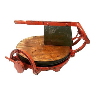 Antique Computing Cheese Cutter Company Rustic Cheese Cutting Board For Sale