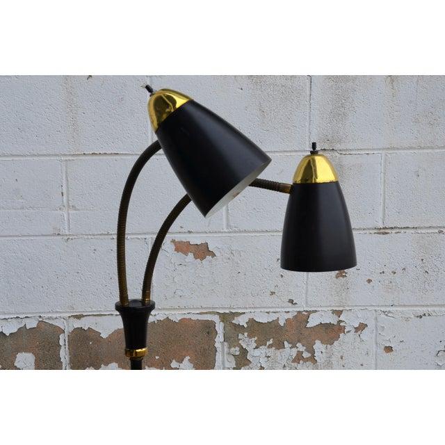 Danish Modern Gerald Thurston Style Mid-Century Modern Gooseneck Floor Lamp For Sale - Image 3 of 8