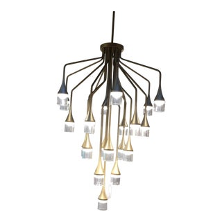 Patrona Chandelier by Tech Lighting in Gold For Sale