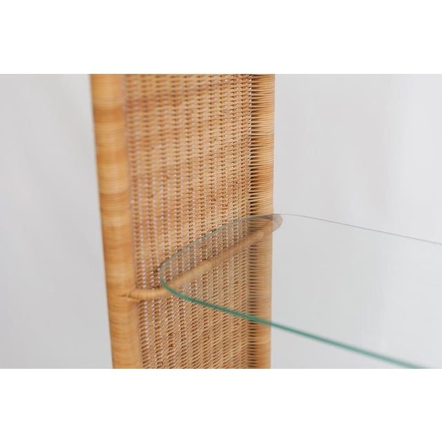 Boho Chic Wrapped Rattan & Wicker Etagere For Sale - Image 3 of 4