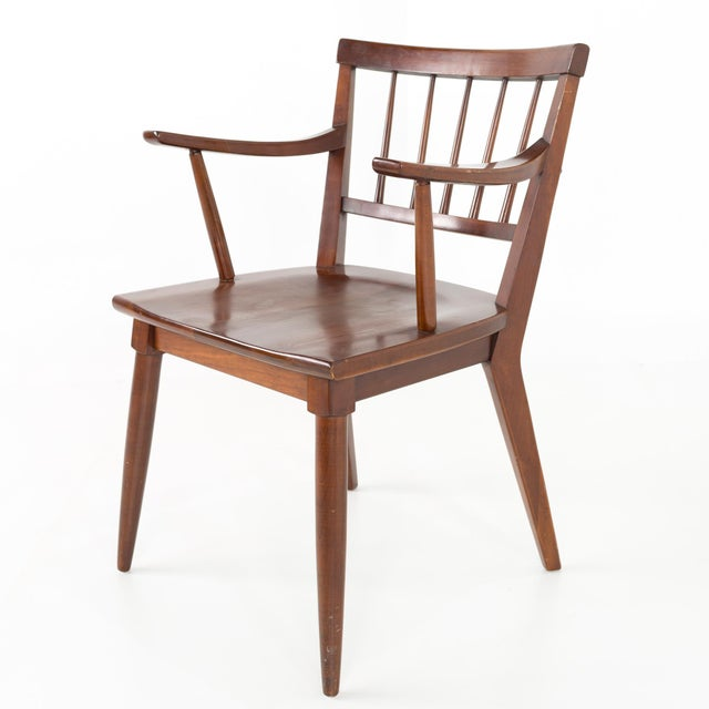 Mid Century Paul McCobb Style Cherry Dining Chairs - Set of 8 For Sale - Image 9 of 13