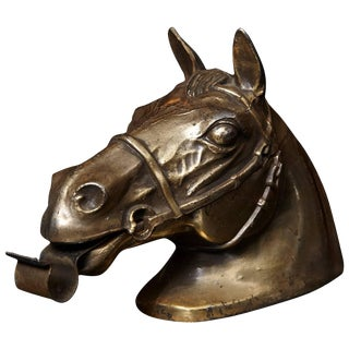 Brass Colored Horse Head Tape Dispenser, 1960s For Sale